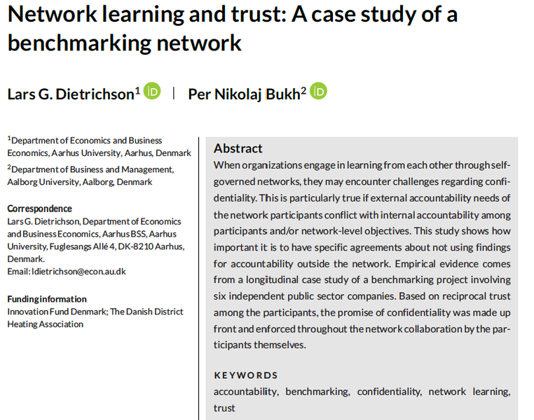 Network learning and trust